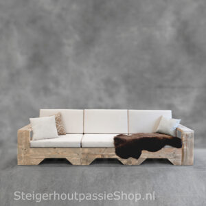 Steigerhouten Loungebank Flexo 3
