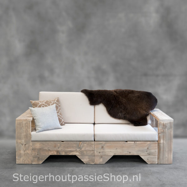 Steigerhouten Loungebank Flexo 2